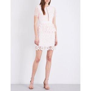 TED BAKER - Dixa layered lace mini dress  