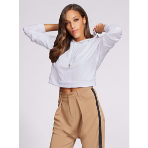 Gabrielle Union Collection - Hooded Crop Sweatshirt - New York & Company