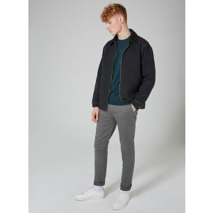 Charcoal Stretch Slim Chinos - Chinos - Clothing - TOPMAN USA