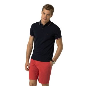 SLIM FIT TIPPED POLO   Tommy Hilfiger