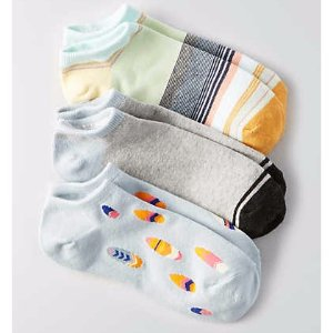 AEO Shortie Socks 3-Pack , Yellow | American Eagle Outfitters