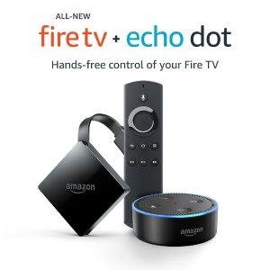 All-New Fire TV 4K + Echo Dot Bundle