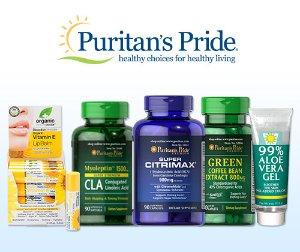 买2送4回归+满$45减$11双12独家:Puritan's Pride 全场保健品促销,收鱼油、维骨力等