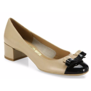 Salvatore Ferragamo - Elea Leather Colorblock Pumps - saks.com