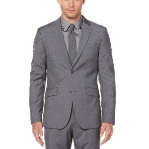 Slim Textured Suit Jacket - Perry Ellis
