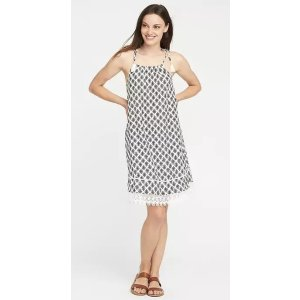 Tie-Shoulder Swing Dress for Women