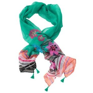 Girls Jungle Green Floral Scarf by Gymboree