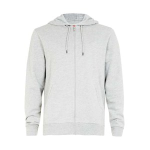 Gray Marl Zip Through Hoodie - View All Sale - Sale - TOPMAN USA