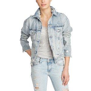 Denim Boyfriend Trucker Jacket - Puffers & Vests � Coats & Jackets - RalphLauren.com