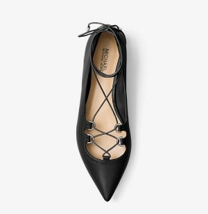 $40.50 (Was $135)Tabby Leather Lace-Up Flat @ Michael Kors