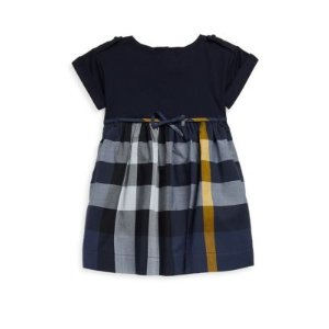 Little Girl's and Girl's Plaid Cotton Dress