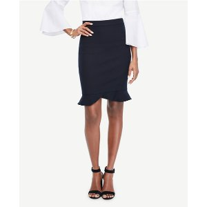 Ruffle Hem Pencil Skirt | Ann Taylor
