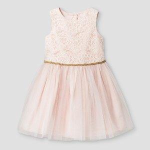 Toddler Girls' Mia & Mimi® A Line Dress - Pink : Target