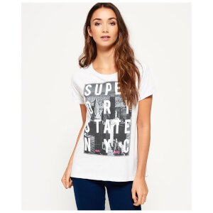 Superdry Women's NYC State T-Shirt - Ice Marl