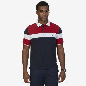 Classic Fit Color Block Polo Shirt - True Navy | Nautica