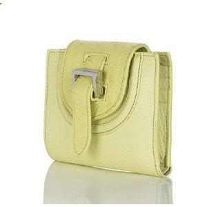 halo mini wallet lime woven