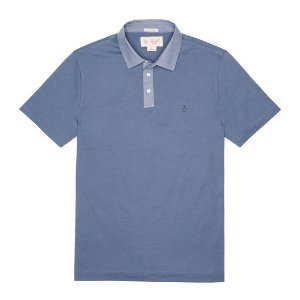 CHAMBRAY COLLAR STRETCH POLO