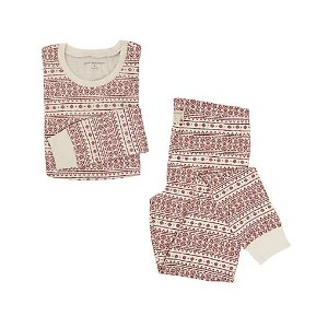 Womens Organic Fair Isle Pajama Set