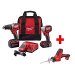 Milwaukee M18 18-Volt Lithium-Ion Cordless Compact Brushless Hammer Drill/Impact Combo Kit (2-Tool)