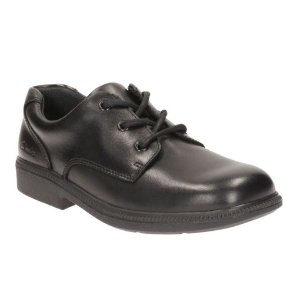 Deaton Lace Youth Black Leather - Youth Boys Shoes - Clarks® Shoes Official Site