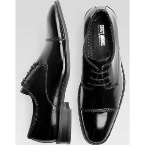 Stacy Adams Brayden Black Oxford - Men's Dress Shoes   Men's Wearhouse