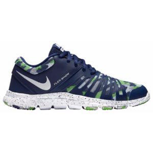 Nike Flex Show - Boys' Grade School - Training - Shoes - Wilson, Russell - Loyal Blue/White/Wolf Grey