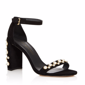 Morepearls Ankle Strap High Heel Sandals