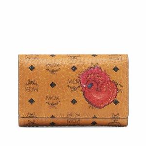 Medium New Year Series Three Fold Wallet in Cognac
