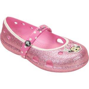 Girls Crocs Keeley Minnie Glitter Flat Kids - FREE Shipping & Exchanges