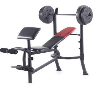 $96.28Weider Pro 265 标准多功能健身凳 + 80磅杠铃