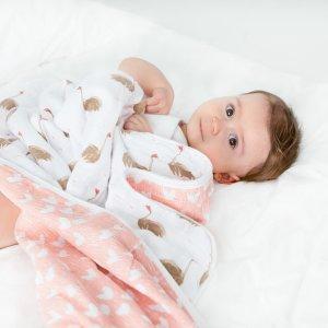 7.5折+包邮Aden and Anais 宝宝包巾、纱布毯、服饰等特卖