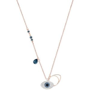 Swarovski Rose Gold-Tone Crystal Evil-Eye Pendant Necklace - Jewelry & Watches - Macy's