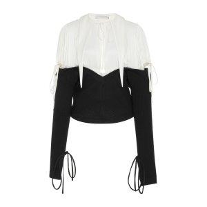 Cutout Silk and Wool-Paneled Top | Moda Operandi