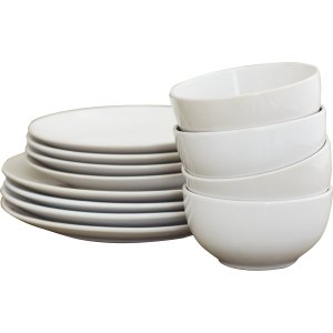 Wayfair Basics™ Wayfair Basics 12 Piece Stoneware Dinnerware Set, Service for 4 & Reviews | Wayfair