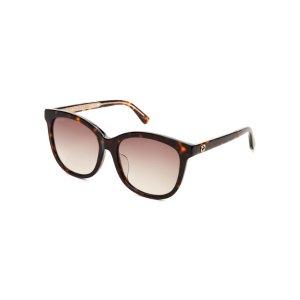 GG 0082/S Tortoiseshell-Look Round Sunglasses - Century 21