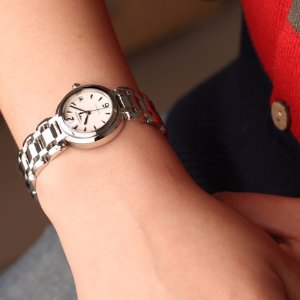 Prima Luna White Dial Stainless Steel Ladies Watch