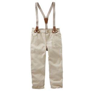 Toddler Boy Suspender Twills   OshKosh.com