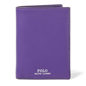 Snapped Leather Billfold - Wallets & Small Leather Goods � Women - RalphLauren.com