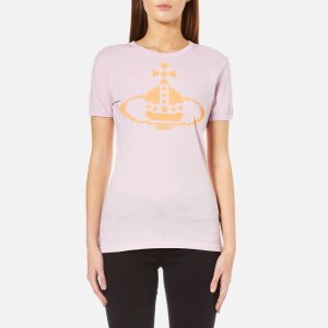 Vivienne Westwood Anglomania Women's Embroidered Orb T-Shirt - Lilac - Free UK Delivery over £50