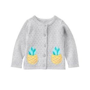 Toddler Girls Heather Grey Pineapple Cardigan by Gymboree