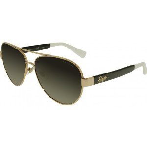 Black Gradient RA4114 Sunglasses with 100% UV Protection and Gold Metal Frame from Ralph Lauren | Focus Camera
