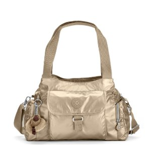Felix Large Metallic Handbag - Toasty Gold | Kipling