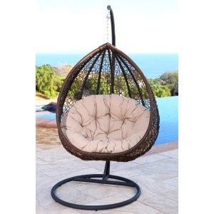 Abbyson Newport Outdoor Wicker Swing Chair