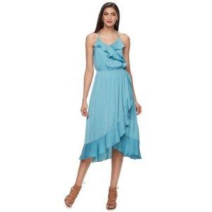 Women's Jennifer Lopez Faux-Wrap Midi Dress