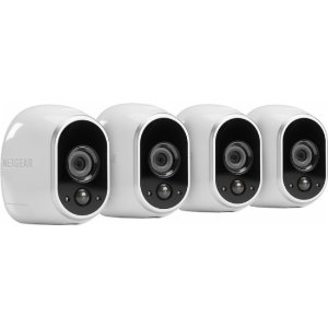 NETGEAR - Arlo Smart Home Wireless High-Definition Security Cameras 4-pack