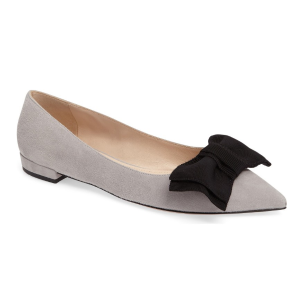 Prada Bow Pointy Toe Flat (Women) | Nordstrom