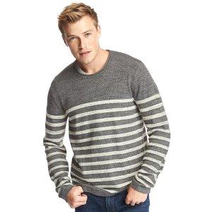 Heathered stripe roll-neck sweater | Gap