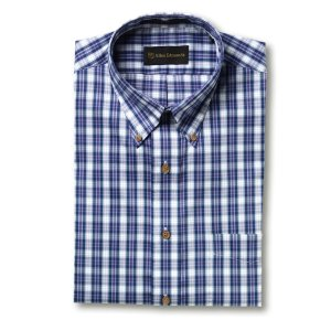 Performance Cotton Glen Plaid Sport Shirt by Allen Edmonds