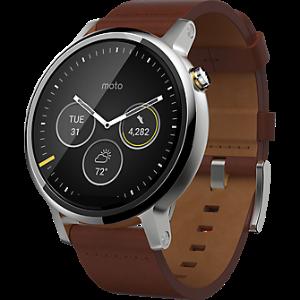 Motorola Moto 360 2nd Gen for Men 46mm - Leather - Verizon Wireless