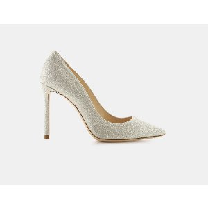 Jimmy Choo Romy 100 Dusty Glitter Fabric Pointy-Toe Pump Pumps | ELEVTD Free Shipping & Returns